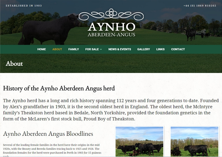 Aynho Aberdeen Angus Website - About Us